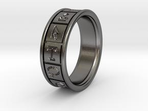 Ps Toolbar Ring in Polished Nickel Steel: 5 / 49