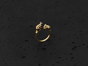 Rabbit Ring (Gold) in 14K Yellow Gold: 6 / 51.5