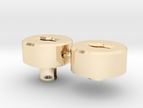35mm to 120mm Film Spool Adapter Set in 14K Yellow Gold