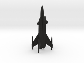Sukhoi Shkval Tailsitter VTOL Fighter in Black Natural Versatile Plastic: 1:200