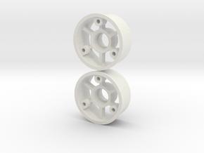 "2WD - ""No glue !"" - Ø19mm / 0 in White Natural Versatile Plastic"