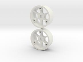 "4WD - ""No glue !"" - Ø19,5mm / +1 in White Natural Versatile Plastic"