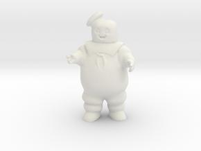StayPuft Marshmallow Man  in White Natural Versatile Plastic