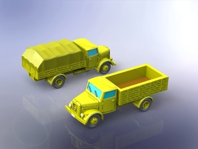 German KHD S3000 Trucks 1/220 in Smooth Fine Detail Plastic