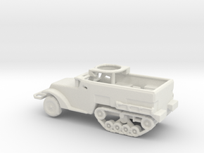 1/160 Scale M2A1 Halftrack w Tube for war gaming in White Natural Versatile Plastic