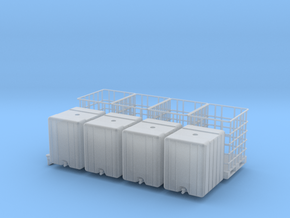 H0 1:87 IBC Container in Smooth Fine Detail Plastic