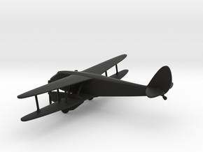 de Havilland DH.89 Dragon Rapide in Black Natural Versatile Plastic: 1:144