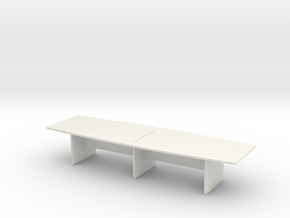 Modern Office Desk 1/56 in White Natural Versatile Plastic
