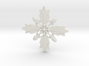Grand Central Snowflake - 3D in White Strong & Flexible