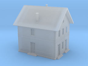 1/350th scale HEV class III. station building in Smooth Fine Detail Plastic