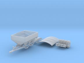 White 8-Ton Dry Fertilizer Spreader w/ Tarp Option in Smooth Fine Detail Plastic