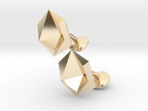 Cufflinks Origami  in 14K Yellow Gold