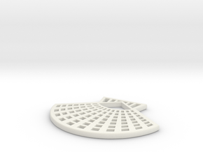 Shell Pendant in White Natural Versatile Plastic