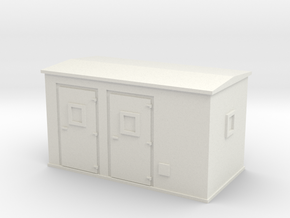 Transformer substation 1/100 in White Natural Versatile Plastic