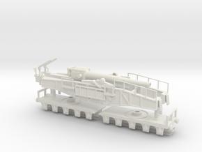 28cm L/42 Schwere Bruno railway Gun ho German 1/87 in White Natural Versatile Plastic