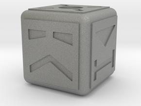 Terrahawks Cube in Gray PA12: Small