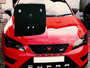 "Pre-Facelift Cupra Front ""S"" Badge - Mount Part in White Natural Versatile Plastic"