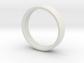 Penta Band Ring Unisex (3 Bands) in White Natural Versatile Plastic