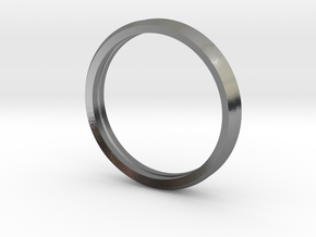 Penta Double Ring by V DESIGN LAB in Polished Silver