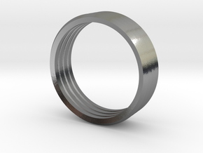 Penta Band Ring (4 Bands) by V DESIGN LAB in Polished Silver