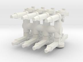 Lewis Gun (x8) 1/100 in White Natural Versatile Plastic