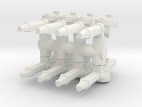 Lewis Gun (x8) 1/72 in White Natural Versatile Plastic