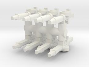 Lewis Gun (x8) 1/56 in White Natural Versatile Plastic
