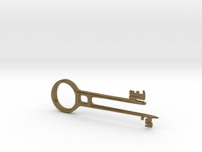 Davy Jones Key Pendant in Natural Bronze