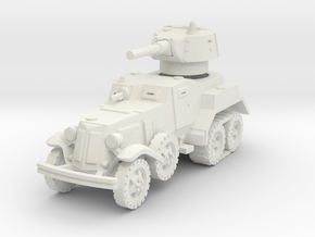 BA-10M (with Tracks) 1/87 in White Natural Versatile Plastic