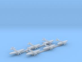 6pk Supermarine SeaFire Mk XV 1:700 WW2 in Smooth Fine Detail Plastic