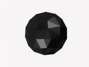 Full Stop Wall Décor (Polished Plastic) in Black Premium Versatile Plastic