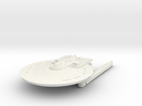 Federation Class HvyDestroyer in White Natural Versatile Plastic