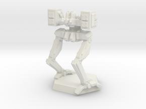 OM-04 Advanced Battle Mech in White Natural Versatile Plastic: Small