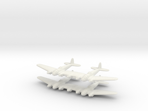 He-111Z Bomber= 1/700 (x2) in White Natural Versatile Plastic