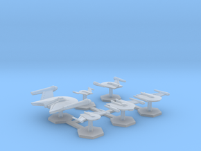 7000 Scale Romulan Fleet Eagle Core Collection MGL in Smooth Fine Detail Plastic
