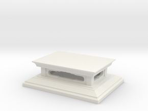 Pedestal for statue in White Natural Versatile Plastic