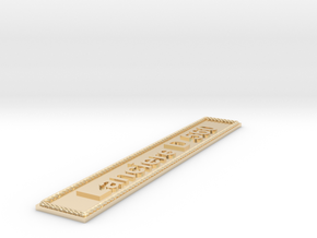 Nameplate Lanciere D 560 in 14k Gold Plated Brass