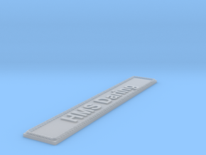 Nameplate HMS Daring in Smoothest Fine Detail Plastic