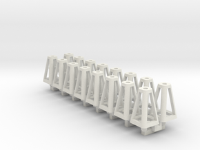 Jack Stands 16 pack 1-32 Scale in White Natural Versatile Plastic