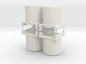 Water Tank (x4) 1/200 in White Natural Versatile Plastic