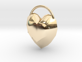 Large Heart Pendant for Necklace in 14K Yellow Gold