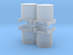 Water Tank (x4) 1/285 in Smooth Fine Detail Plastic
