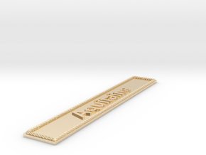 Nameplate Aquitaine in 14k Gold Plated Brass