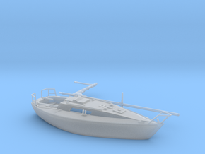 HObat30 - Sailboat in Smooth Fine Detail Plastic