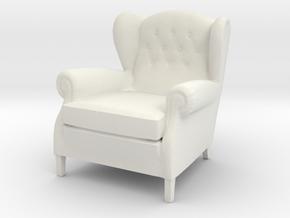 ArmChair 03.1:24 Scale in White Natural Versatile Plastic