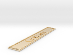 Nameplate Le Corse in 14k Gold Plated Brass