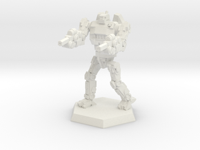 Mk3a Light/Scout Mech (v2) in White Natural Versatile Plastic: Small