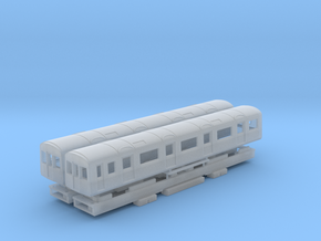 N Gauge D78 Underground Kit - Driving cars only in Smooth Fine Detail Plastic