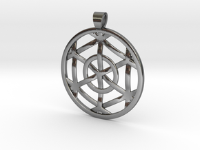 Hexaspell [pendant] in Polished Silver
