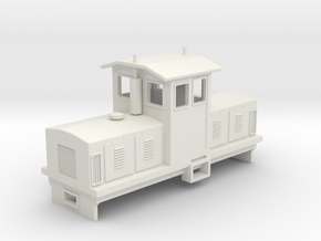 "HOn30 Centrecab Locomotive 2 (""Joanna"") in White Natural Versatile Plastic"